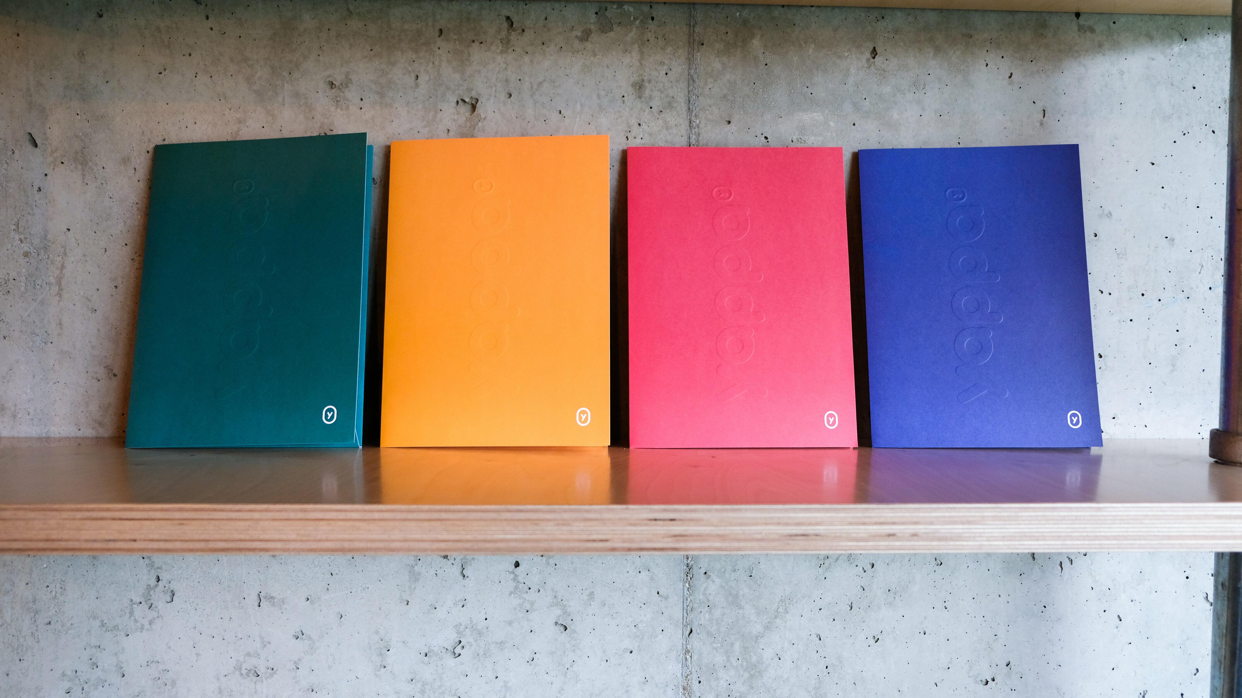 Mappen in yappa kleuren